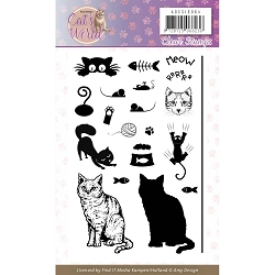 Find It Trading - Amy Design Clear Stamp - Cat's World