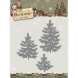 Find It Trading - Yvonne Creations Die - Celebrating Christmas Pine Trees