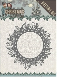 Find It Trading - Amy Design Die - Christmas Wishes Holly Wreath