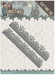 Find It Trading - Amy Design Die - Christmas Wishes Snowflake Borders