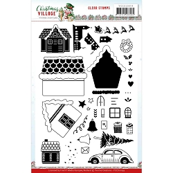 Find It Trading - Yvonne Creations Clear Stamp - Christmas Village