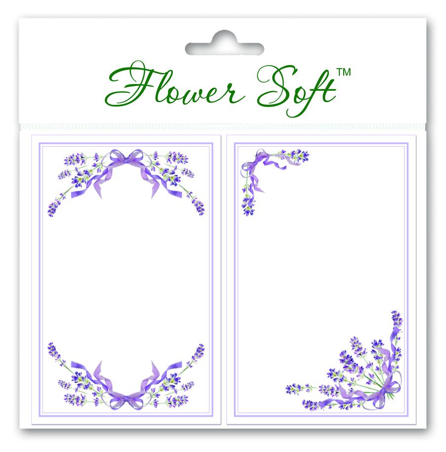 Flower Soft-Card Topper-Lavender Borders