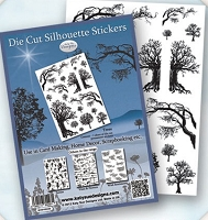 Flower Soft Die Cut Stickers - Silhouette Trees
