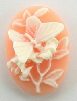 Frantic Stamper - Resin Cameos - White Butterfly on Angel Oval - Package of 5