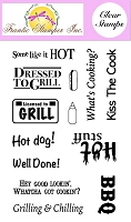 Frantic Stamper Clear Stamp Set - Dressed To Grill