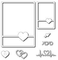 Frantic Stamper Precision Die - Heart Card Sketcher