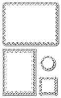 Frantic Stamper Precision Die - Elementals #2 - Lacy heart Frames (set of 4)