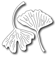 Frantic Stamper Precision Die - Gingko Leaves (set of 2 dies)