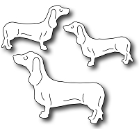 Frantic Stamper Precision Die - Three Dachshunds