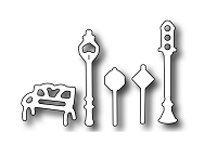 Frantic Stamper Precision Die - Village Park and Traffic Accessories (set of 5 dies)