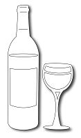 Frantic Stamper - Precision Dies - Wine Bottle and Glass (set of 2)