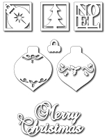 Frantic Stamper - Precision Dies - Mix 'N Match - Christmas (set of 7)