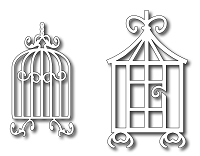 Frantic Stamper - Precision Dies - Gilded Bird Cage Duo (set of 2)