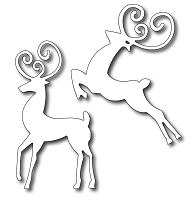 Frantic Stamper - Precision Dies - Reindeer Duo (set of 2)