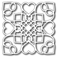 Frantic Stamper Precision Cutting Die - Lace Heart Square