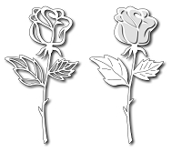 Frantic Stamper Precision Cutting Die - Long Stem Rose :)