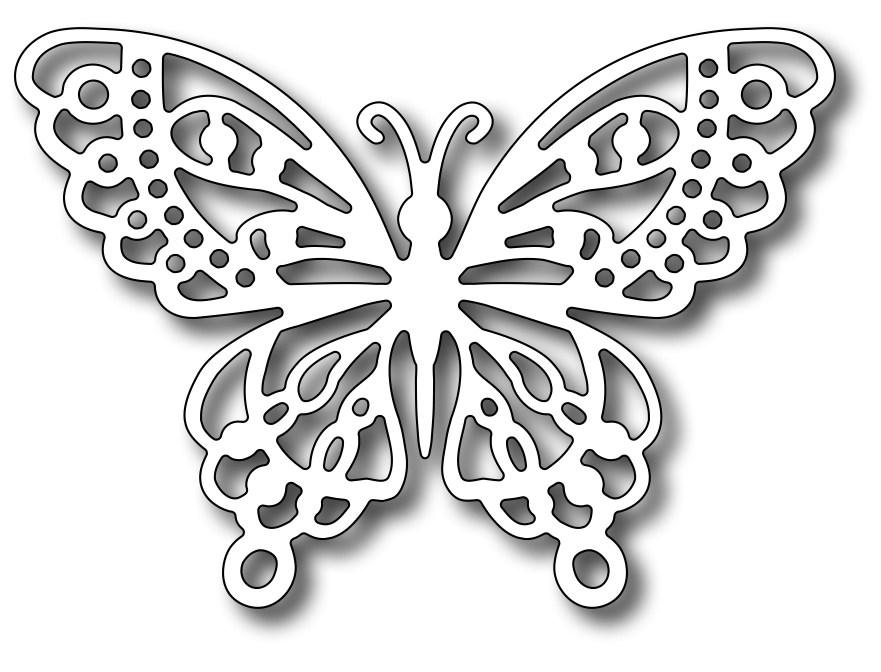 Frantic Stamper Precision Dies Monarch Butterfly