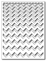 Frantic Stamper - Precision Dies - Ombre Chevron Card Panel