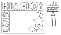Frantic Stamper - Precision Dies - Happy Birthday Frame (set of 4 dies)