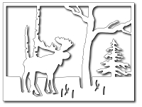 Frantic Stamper - Precision Dies - Moose in the Forest