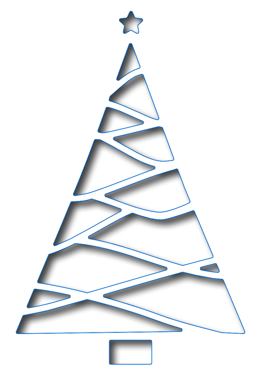 Christmas Tree Cut Out.Frantic Stamper Precision Dies Reverse Cut Triangle Christmas Tree