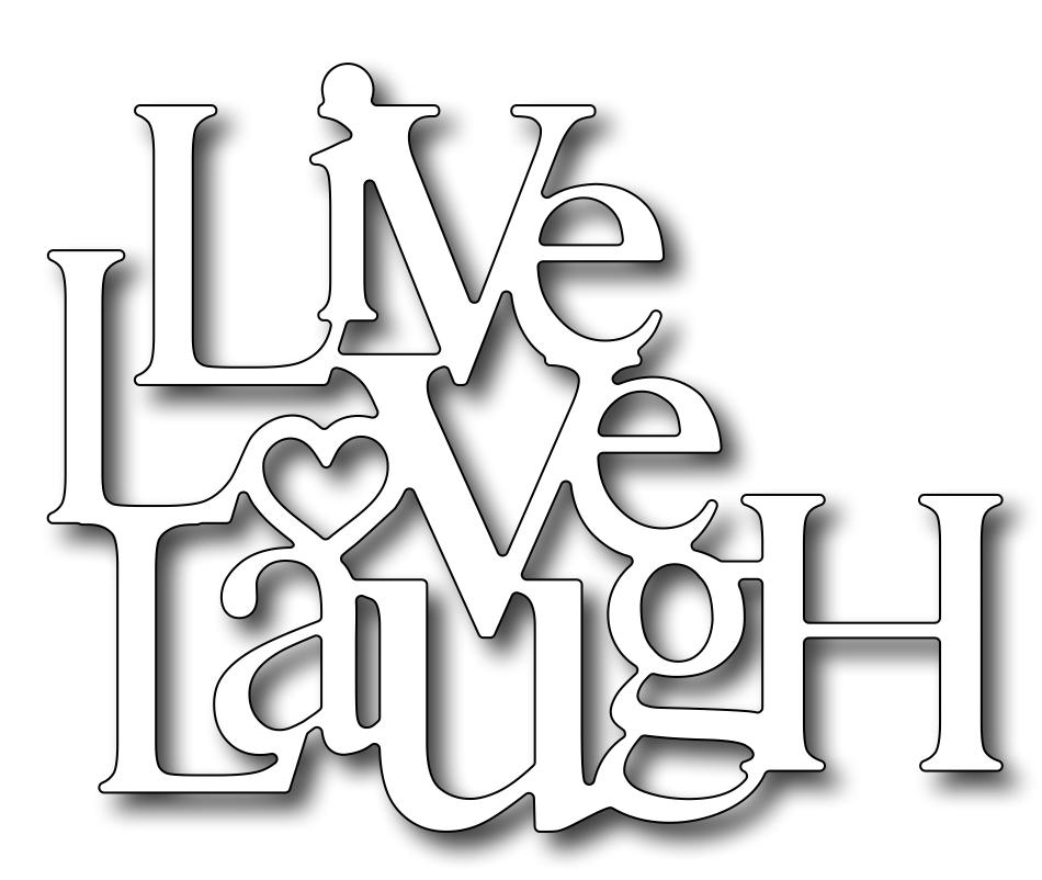 frantic stamper precision die live love laugh. Black Bedroom Furniture Sets. Home Design Ideas