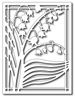 Frantic Stamper Precision Die - Lily of the Valley Card Panel :)