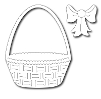 Frantic Stamper Precision Die - Easter Basket and Bow (set of 2 dies)