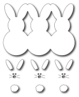 Frantic Stamper Precision Die - Marshmallow Bunnies