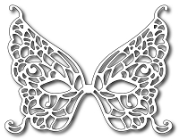 Frantic Stamper Precision Die - Butterfly Mardi Gras Mask