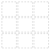 Frantic Stamper Precision Die - 9-Spot Stitched grid (cuts stitched grid only)