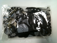 Frantic Stamper - Ribbon Grab Bag Assortment (approx 12 to 14 yards total) - Black Tie