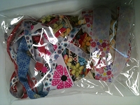 Frantic Stamper - Ribbon Grab Bag Assortment (approx 12 to 14 yards total) - Floral Fantasy