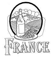 Frantic Stamper Cling-Mounted Rubber Stamp - France Wine Country