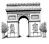 Frantic Stamper Cling-Mounted Rubber Stamp - Lg Arc de Triomphe