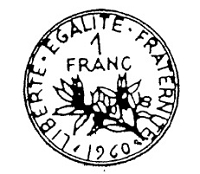Frantic Stamper Cling-Mounted Rubber Stamp - Franc Coin