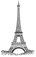Frantic Stamper Cling-Mounted Rubber Stamp - Lg Eiffel Tower