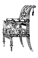 Frantic Stamper Cling-Mounted Rubber Stamp - Empire Chair