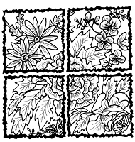 Frantic Stamper Cling-Mounted Rubber Stamp - Rose Quadrants