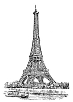 Frantic Stamper Cling-Mounted Rubber Stamp - Eiffel Tower