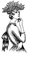 Frantic Stamper Cling-Mounted Rubber Stamp - Lady Thinking