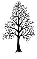 Frantic Stamper Cling-Mounted Rubber Stamp - Lg Tree