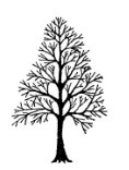 Frantic Stamper Cling-Mounted Rubber Stamp - Sm Naked Tree