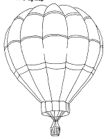 Frantic Stamper Cling-Mounted Rubber Stamp - Large Hot Air Balloon