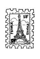 Frantic Stamper Cling-Mounted Rubber Stamp - Eiffel Stamp