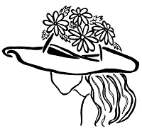 Frantic Stamper Cling-Mounted Rubber Stamp - Daisy Hat