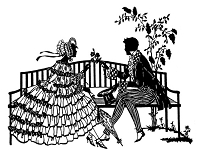 Frantic Stamper Cling-Mounted Rubber Stamp - Courting Silhouette