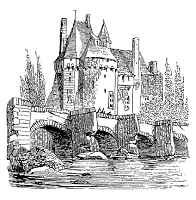 Frantic Stamper Cling-Mounted Rubber Stamp - Castle on the River