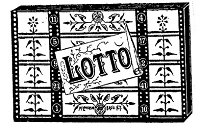 Frantic Stamper Cling-Mounted Rubber Stamp - Lotto