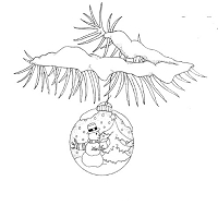 Frantic Stamper Cling-Mounted Rubber Stamp - Ball on Branch